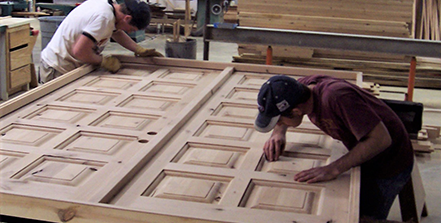 Two Men Making Customize Doors