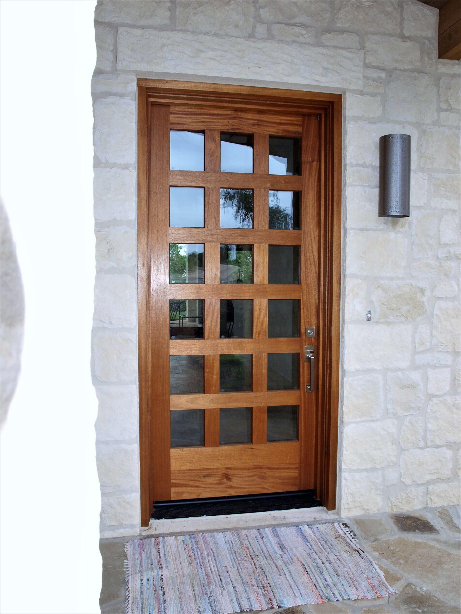 Glass Wooden Artisanal Door